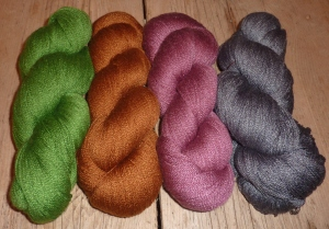 Jens Green, Treacle Toffee, Rose Pink & Slate Lace