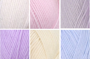 White, Baby Pink, Silver, Lilac, Cream and Baby Blue