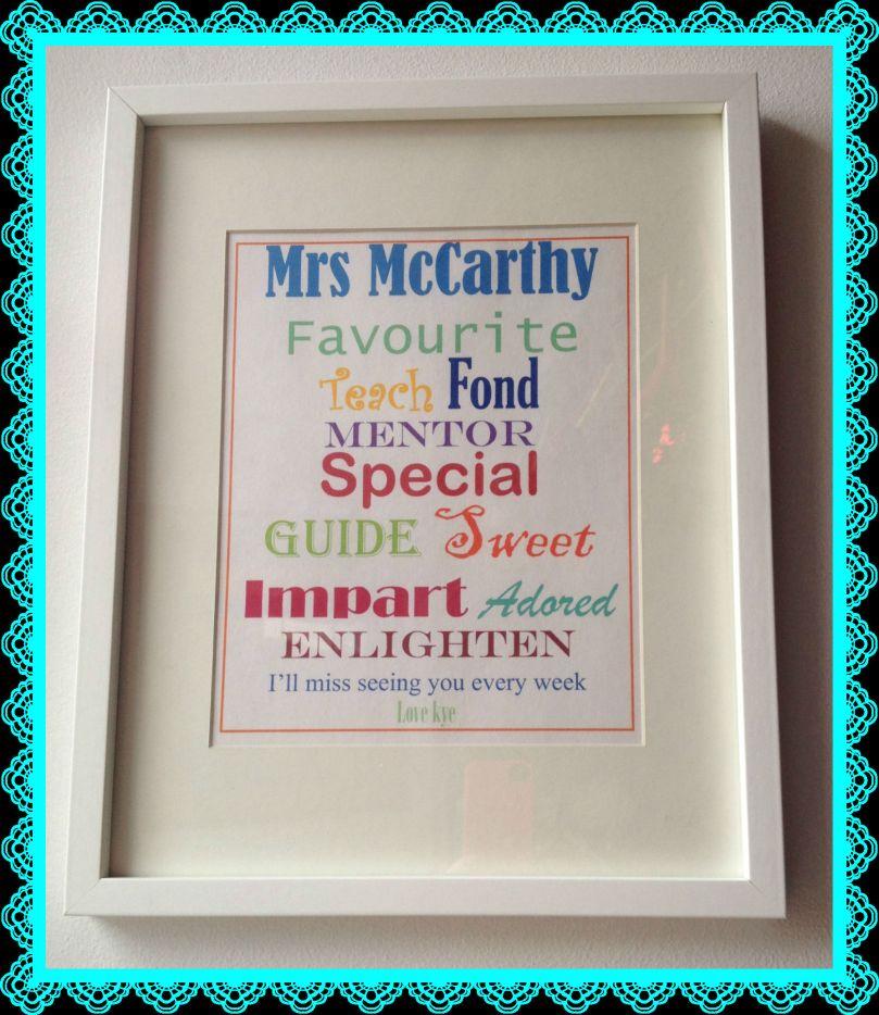 Mrs McCarthy