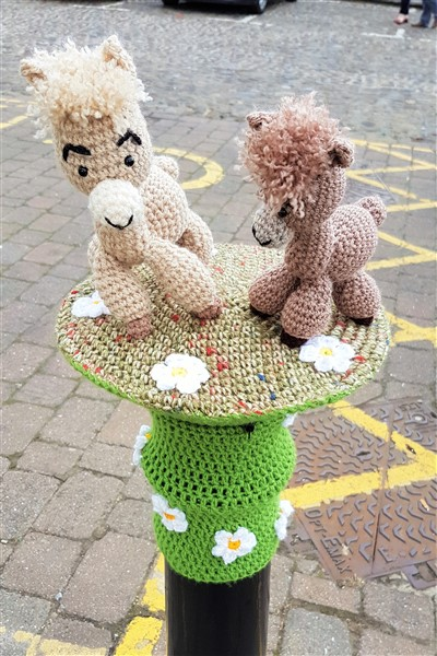 Thirsk Yarn bombed