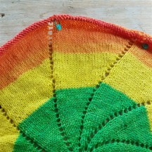 Leftfootdaisy-rainbow-pinwheel-baby-blanket-green-yellow-orange