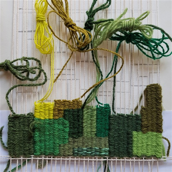 leftfootdaisy-colour-exploration-tapestry-weaving-weekly-progress